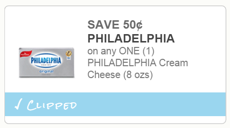 Enjoy the rich, creamy taste of Philadelphia Cream Cheese and more with these great savings. Whether you're looking for the Original Cream Cheese to add to your recipe or the perfect Blueberry Cream Cheese to start your morning, you can find coupons for all of Philadelphia's wholesome dairy products.