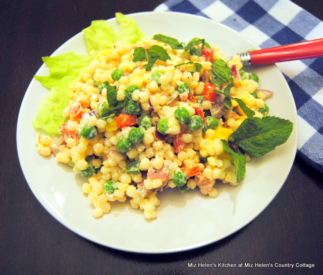 Green Pea and Ham Couscous Salad at Miz Helen's Country Cottage