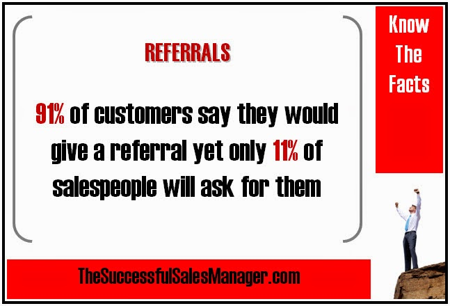 Business Referrals Statistics: 91% Of Customers Will Provide, Only 11% Of SalesPeople Will Ask For
