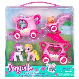 MLP Strawberry Swirl Teacup Parade Accessory Playsets Ponyville Figure