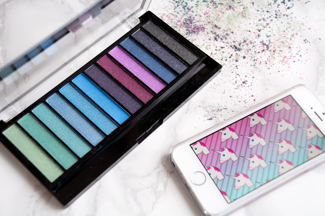 палетка теней  makeup revolution mermaids vs unicorns отзывы