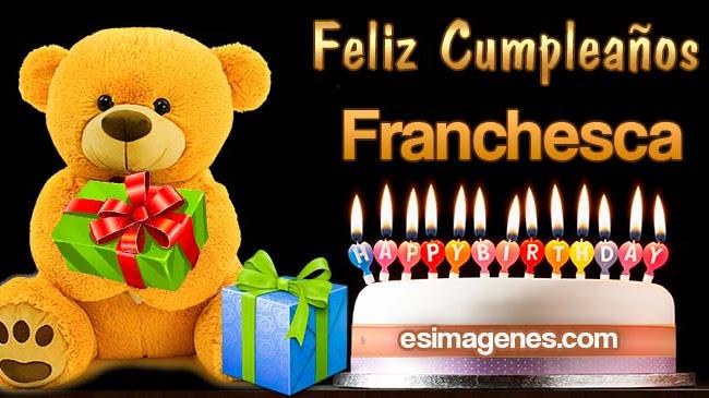 Feliz cumpleaños Franchesca