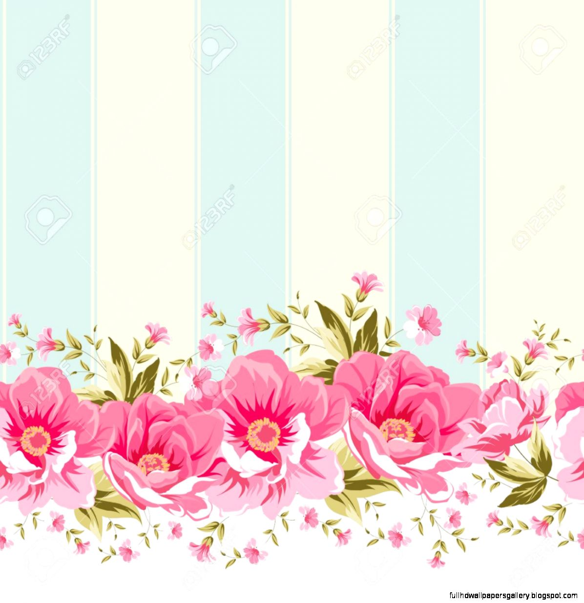 Pink Flower Wallpaper Border Full Hd Wallpapers