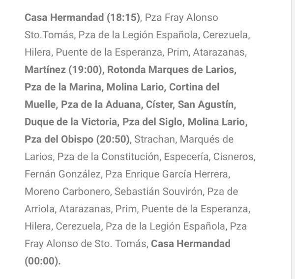 Itinerario y horario Soledad de Mena para la procesión magna del próximo 26 de mayo
