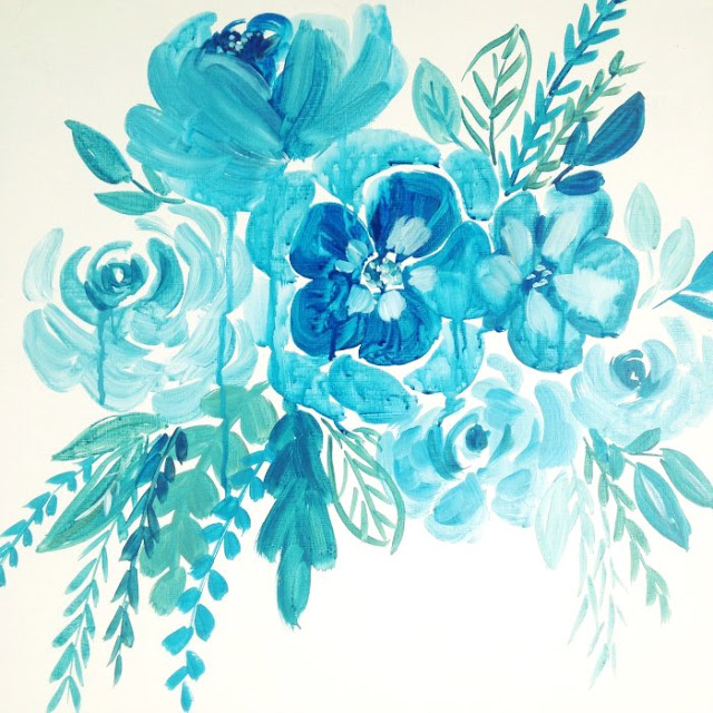 Blue Floral Art: Grow Creative Blog