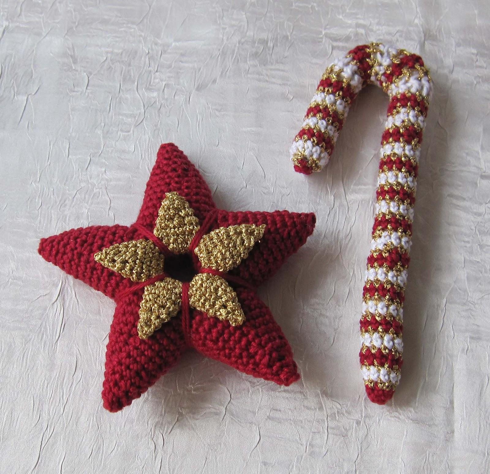 Kleines Fadenallerlei Weihnachtsstern Und Zuckerstange