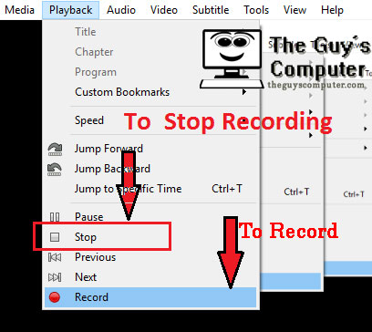 How to record screen using VLC media Player