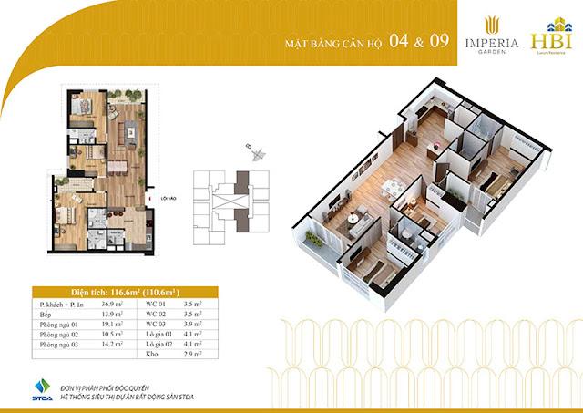 Thiết kế căn hộ 04 09