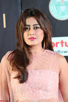 Nidhi Subbaiah Glamorous Pics in Transparent Peachy Gown at IIFA Utsavam Awards 2017  HD Exclusive Pics 05.JPG