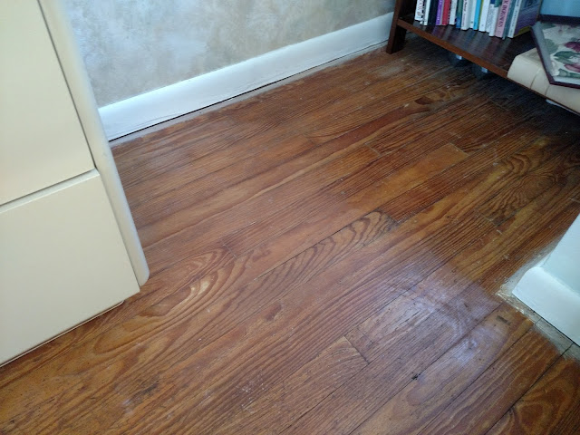 paint removed from hardwood floor