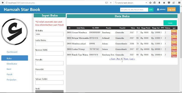 tutorial web membuat aplikasi toko form input barang