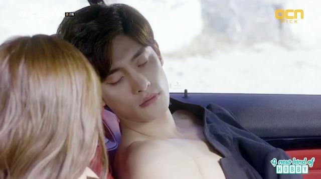 jin wook in the car shirtless - My Secret Romance: Episode 2