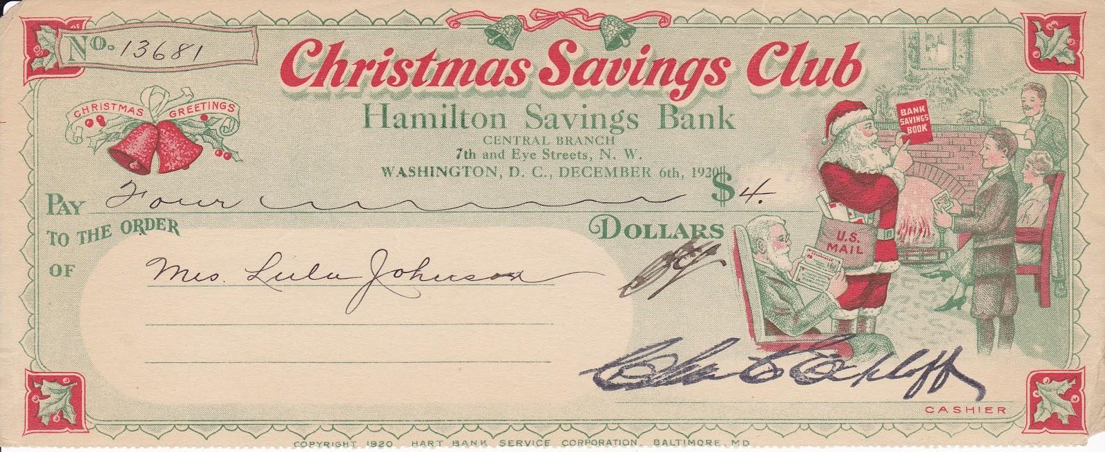 Christmas Account.Bob Lemke S Blog Collecting Colorful Christmas Club Checks