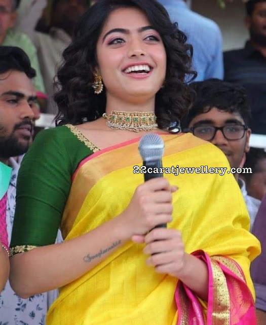 Rashmika Mandanna in Kundan Choker