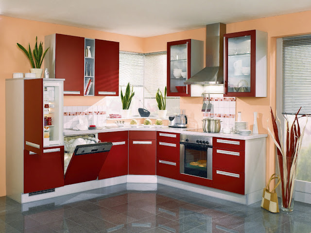 Dekorasi Lemari Dapur Minimalis Yang Elegan Dengan Color Merah Dekorasi Lemari Dapur Minimalis Yang Elegan Dengan Color Merah