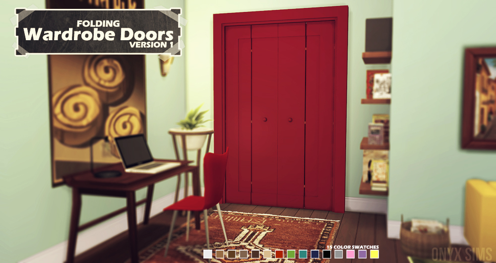 Folding Wardrobe Doors Onyx Sims