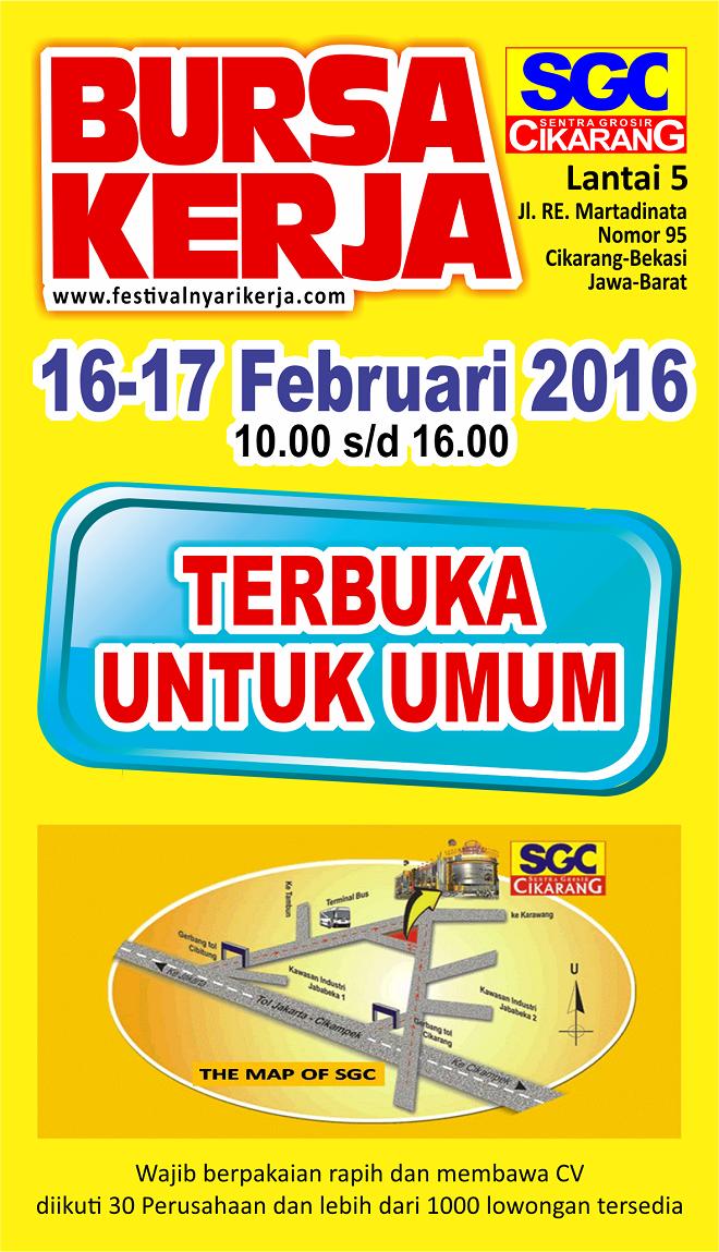 Job Fair Bursa Lowongan Kerja SGC Cikarang 2016