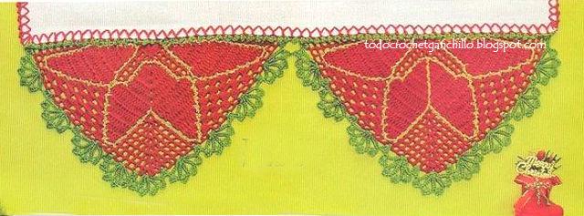 Borde navideño para tejer al crochet