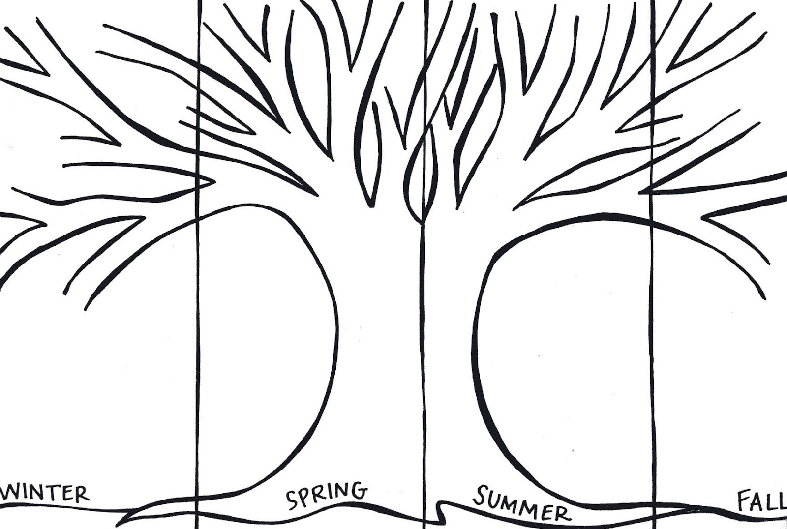 Four Seasons Coloring Pages For Preschool Coloring Pages