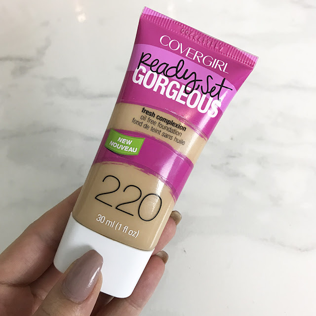 Covergirl ready set gorgeous foundation in 220 honey beige packaging