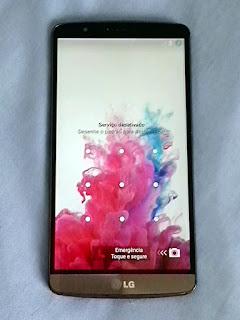 LG G3 Depois de recuperada a bateria