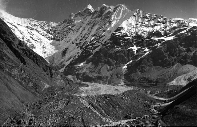 Image Attribute: The Lirung glacier as it was 1949 [image by Oleg Polunin]