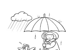 Mewarnai Awan Hujan Download Gambar Mewarnai Gratis