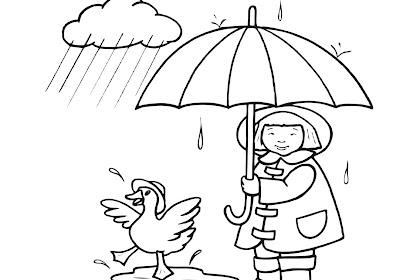 Semua Yang Terbaik Tentang Mewarnai Gambar Awan Hujan Catatanku