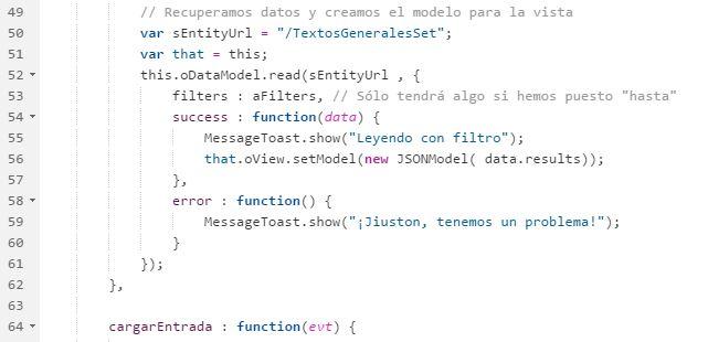 Trasteando con SAP UX: SAPUI5, oData y filtros: Consultar sólo los