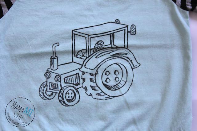jak wygląda koszulka tshirt z ręcznym rysunkiem po praniu