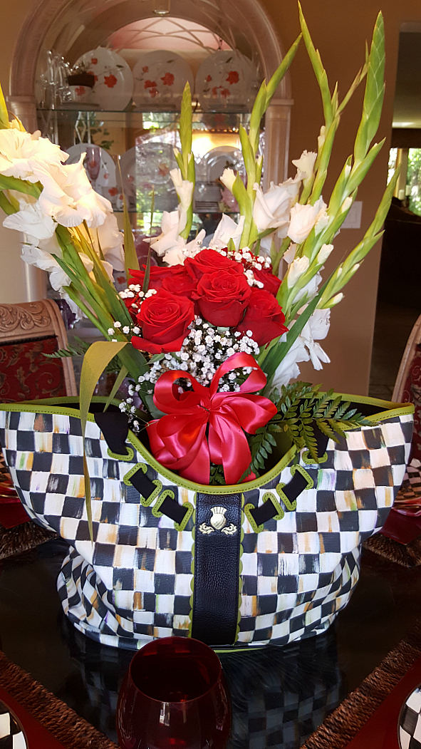 The Traveling Tote with Berries and Blossoms