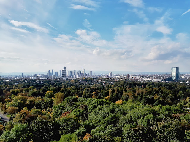 Frankfurt skyline from the Goethe turn/tower