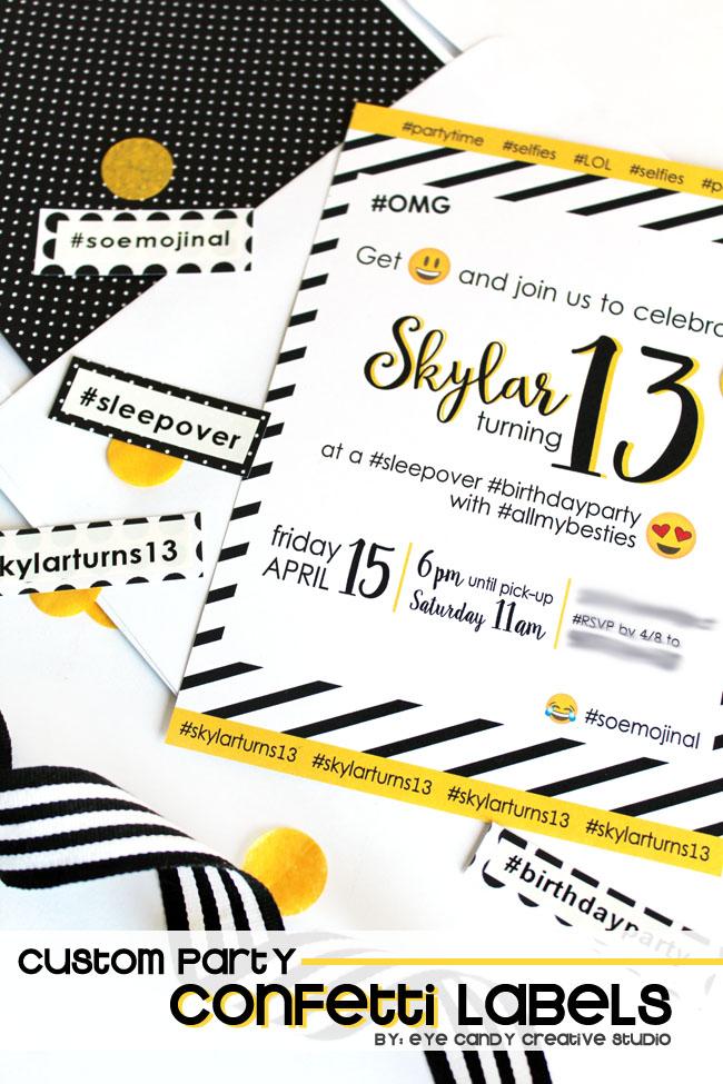 emoji party, teen birthday party, emoji party, emoji birthday, black and white