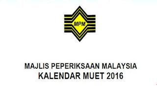 muet 2016 jadual