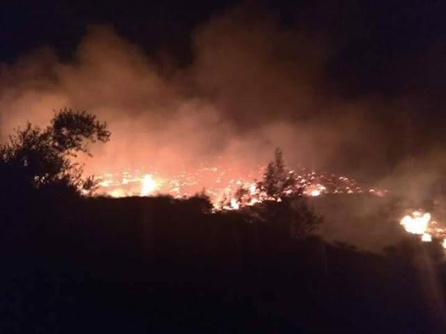 Το ΕΚΑΒ στις φωτιές της Ευβοίας.