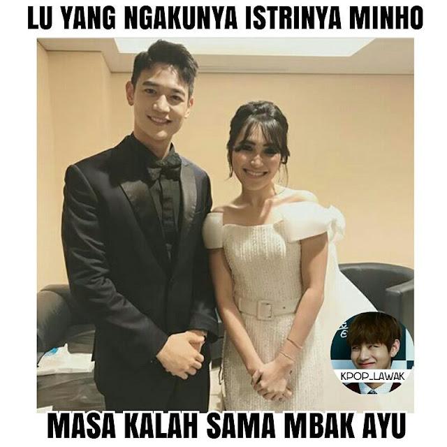 Meme Ayu Ting Ting Lee Min Ho