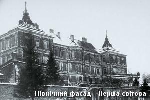 Північний фасад замку в Першу світову