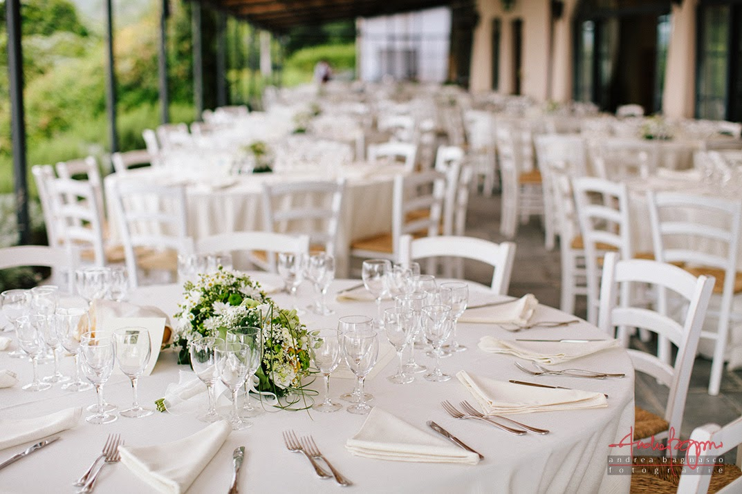 mise en place matrimonio Ganci Farm Celle Ligure