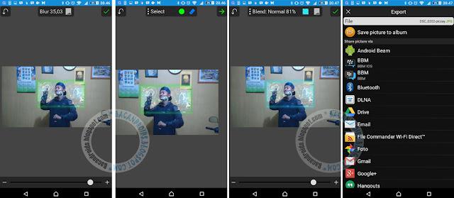 cara Efek Hologram Ironman android