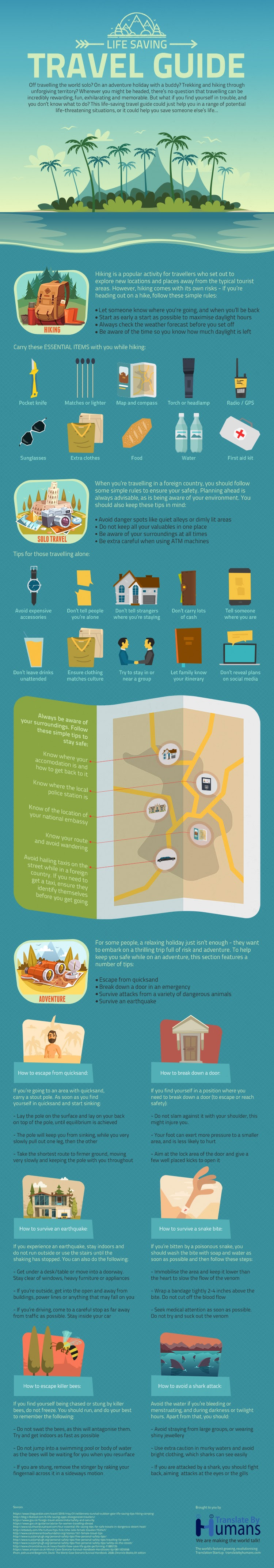 Life Saving Travel Guide #infographic