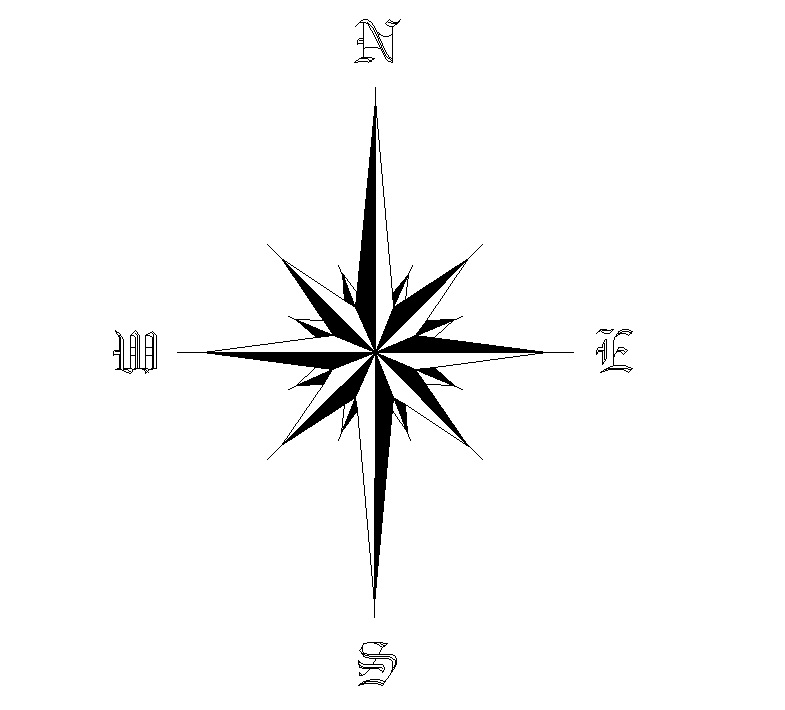 how to find true north with a compass