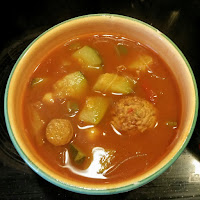 Vegetarisch vegan Suppe