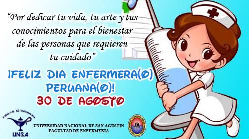 Facultad De Enfermeria Feliz Dia Enfermera O Peruana O