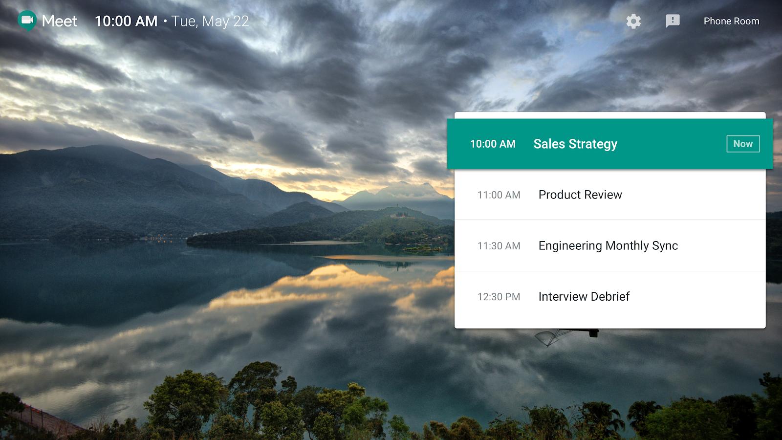 G Suite Updates Blog: Updates to Hangouts Meet home screen
