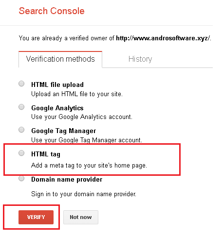 Mendapatkan Kode Verifikasi Blog di Webmaster Google