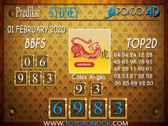 Prediksi Togel SYDNEY PONDOK4D 01 FEBRUARY 2020