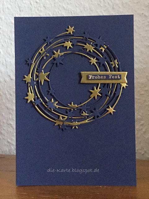"""""""Sternenkranz"""" Charlie & Paulchen, Weihnachtskarte"""