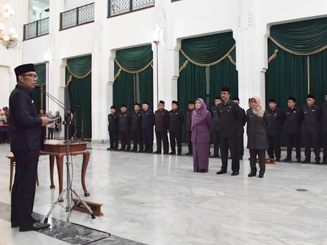 Inilah Posisi Baru 24 Pejabat Hasil Rotasi Gubernur Jawa Barat