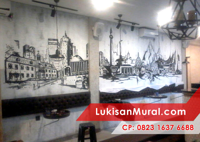 mural cafe bandung