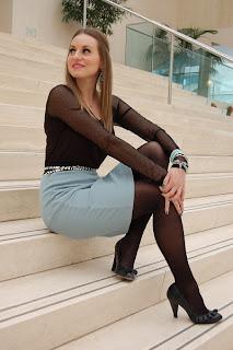sexy Black skirt pantyhose